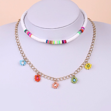 Bohemian miyuki beads multi-layer necklace wholesale NHLA329901's discount tags