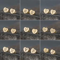 neue englische 26 Buchstaben Ohrringe NHAKJ329966