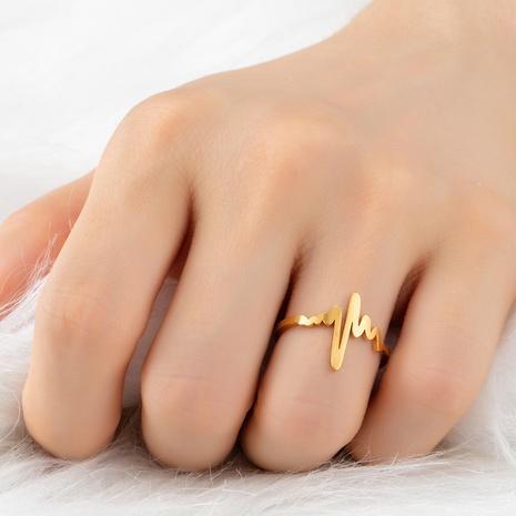 Mode EKG Edelstahl offener Ring NHAKJ329964's discount tags