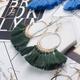 new bohemia woolen tassel earrings NHAKJ329972