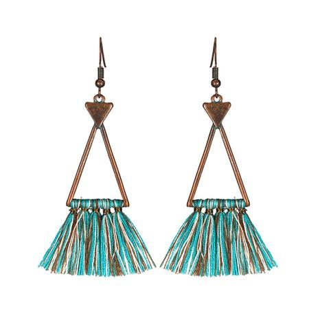 New fashion long tassel alloy hollow wool earrings NHAKJ329974's discount tags