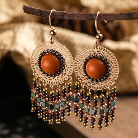 ethnic style new rice beads retro tassel earrings NHAKJ329977's discount tags