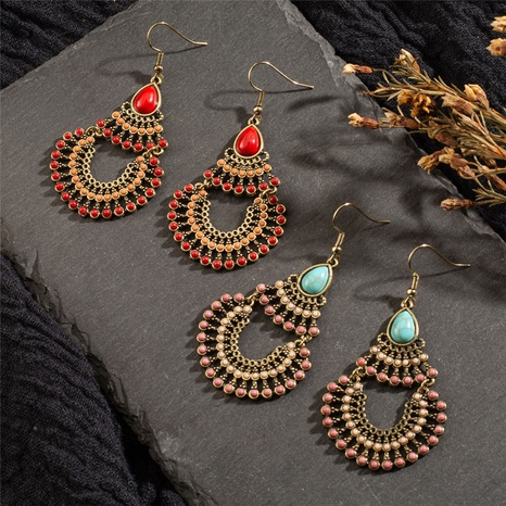 Ethnic style classical retro geometric oval earrings NHAKJ329979's discount tags