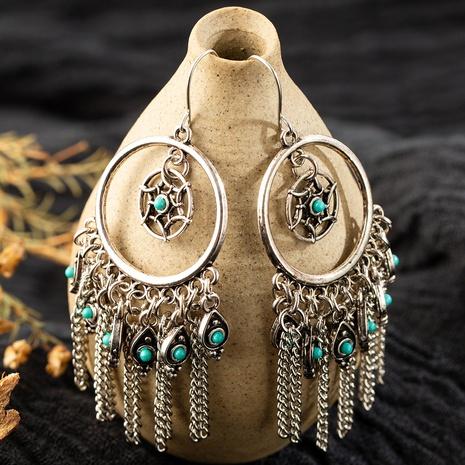 bohemian creative dream catcher water drop tassel earrings NHAKJ329983's discount tags