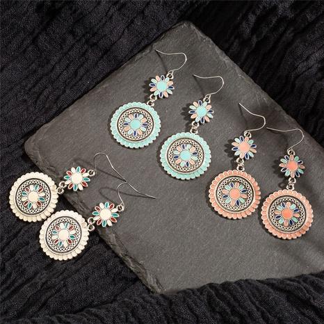 New fashion vintage bohemian flower earrings NHAKJ329985's discount tags