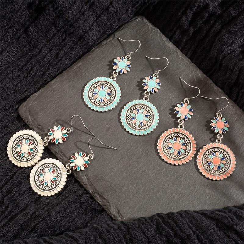 New fashion vintage bohemian flower earrings NHAKJ329985