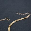 Collier en forme de coeur avec serrure en alliage de mode NHCT329986