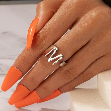 new fashion simple letter M ring NHGY330018's discount tags
