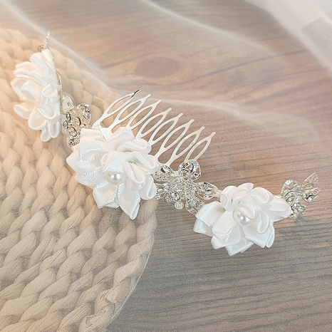 Peigne à cheveux fleur en strass fait main bijoux de mariée coréenne NHAU330080's discount tags