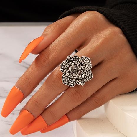 Retro three-dimensional diamond rose ring NHGY330608's discount tags