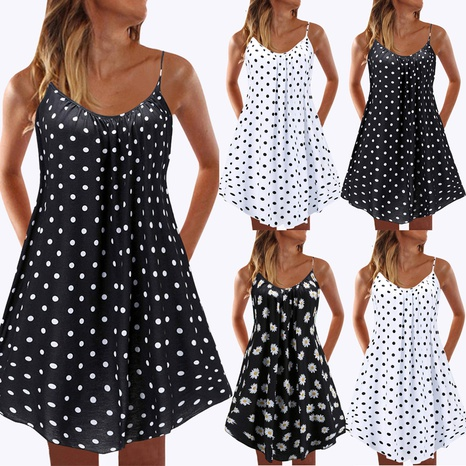 Sommermode Polka Dot Print Kurzer Strand Sling Rock NHUO330570's discount tags