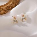 Fashion handmade beaded pear flower earrings NHMS330249