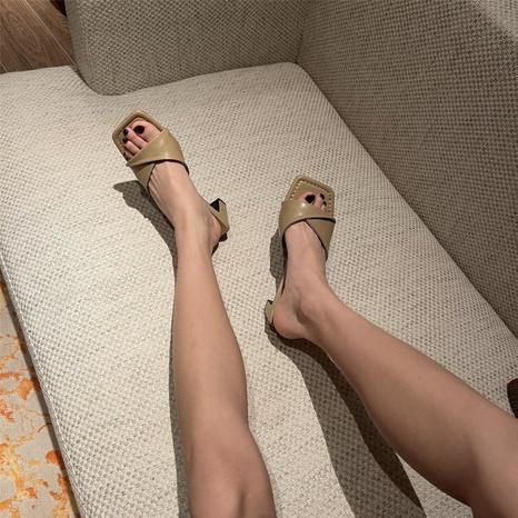 Sandalias coreanas con punta cuadrada y tacón de aguja NHHU330333's discount tags