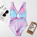 einteiliger sexy Badeanzug mit Riemchenmuster NHHL330344