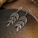 Boucles d39oreilles longues pompon en forme de feuille de Bohme NHAKJ330494