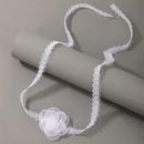 Tour de cou en dentelle de fleur blanche de mode en gros NHGY330560