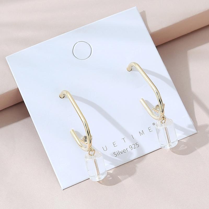 creative fashion glass earrings  NHPS330536
