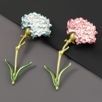 fashion alloy oil dripping flower carnation brooch NHJE319587