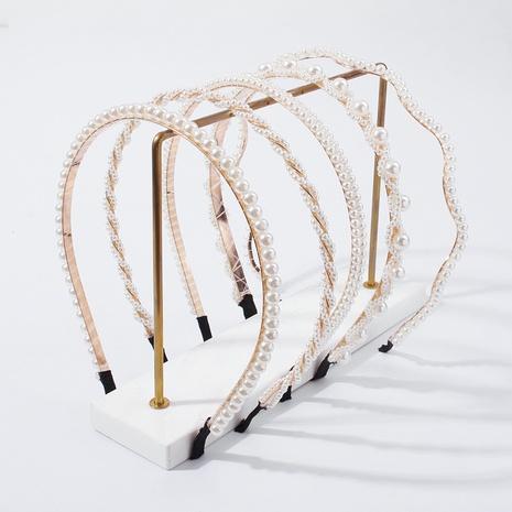 fashion imitation pearl headband  NHMD319612's discount tags