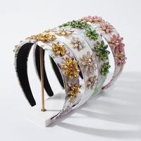 fashion creative exaggerated imitation drill headband NHMD319615