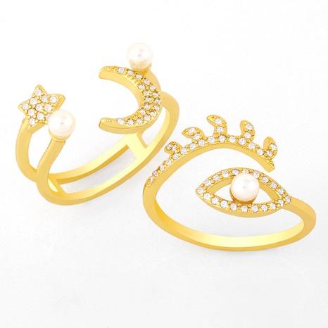 fashion pearl diamond moon star ring  NHAS319622's discount tags