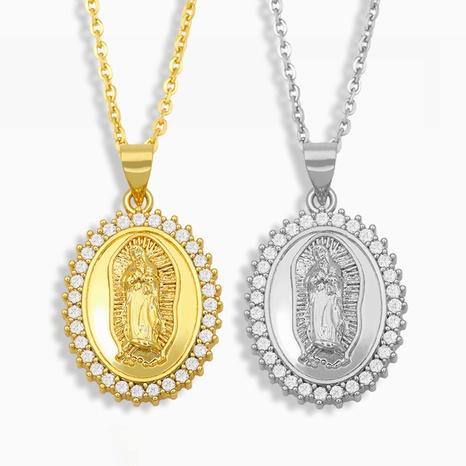collar de diamantes con colgante de Virgen María vintage NHAS319623's discount tags