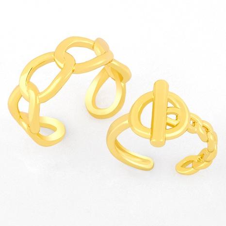 anillo de apertura de cadena geométrica salvaje de nueva moda NHAS319625's discount tags