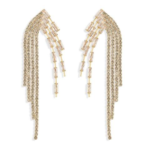 fashion alloy diamond tassel earrings  NHJQ319631's discount tags