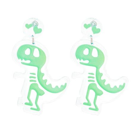 Acrylic Dinosaur Skull Pendant Earrings NHJJ319638's discount tags