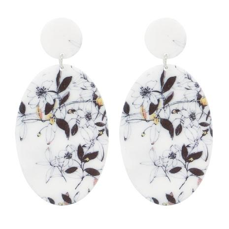 Acrylic Geometric Leaf Flower Pendant Earrings NHJJ319637's discount tags