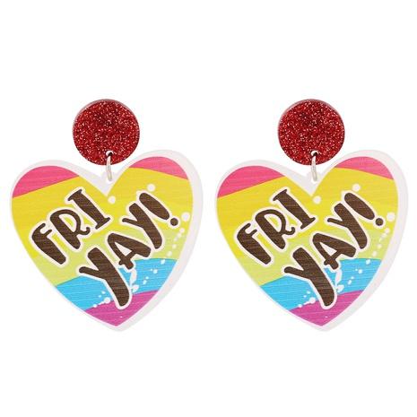 Acrylic Heart Pendant Earrings NHJJ319642's discount tags
