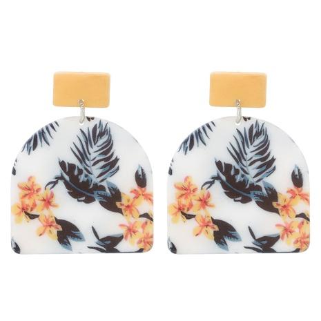 Acrylic Geometric Leaf Flower Earrings NHJJ319646's discount tags