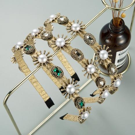 Koreanisches neues einfaches goldenes Perlenblumenstirnband NHLN319666's discount tags