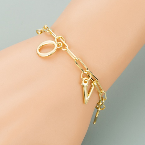 golden letter LOVE multi-layer bracelet NHLN319660's discount tags