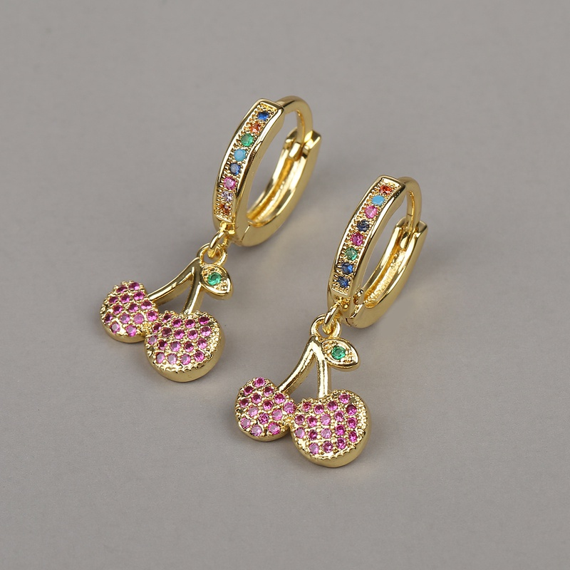 fashion fruit cherry earrings NHBU319681