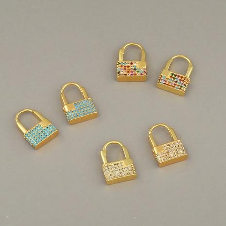 nuevos pendientes de cobre con candado creativo NHBU319706's discount tags
