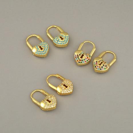 pendientes de candado nuevos de moda simple NHBU319711's discount tags
