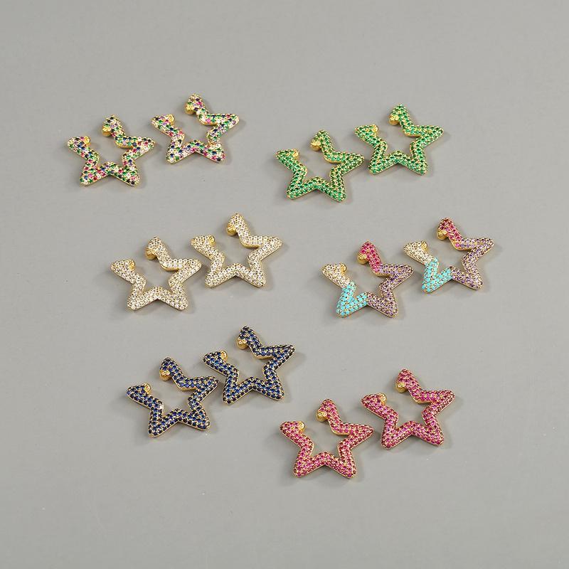 fashion new rainbow star ear bone clip NHBU319717