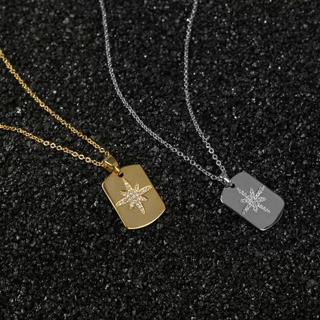 retro diamond six-pointed star pendant necklace NHBU319724's discount tags