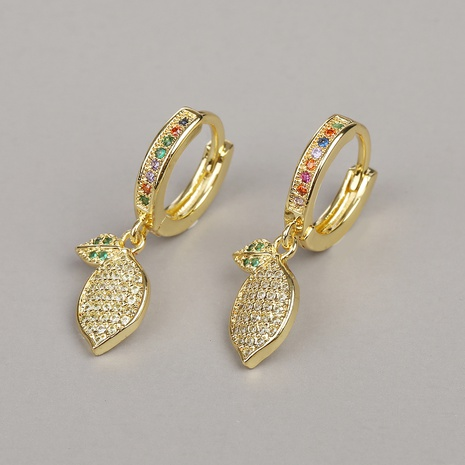 fashion copper micro-inlaid zircon earrings NHBU319726's discount tags