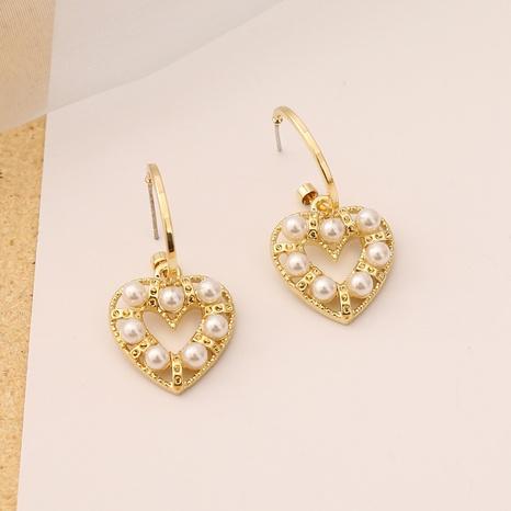 fashion heart pearl earrings  NHBW319774's discount tags