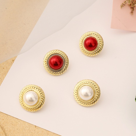 creative metal pearl earrings  NHBW319777's discount tags