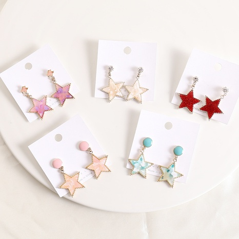 fashion creative five-pointed star earrings  NHBW319819's discount tags