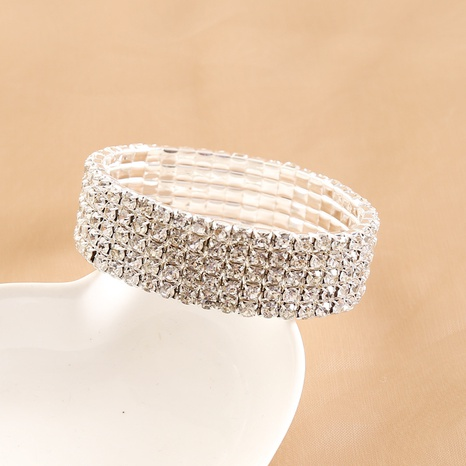 multi-layer full diamond bracelet  NHBW319824's discount tags