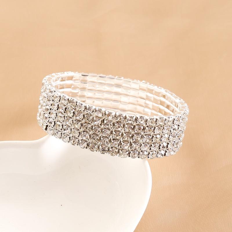 multilayer full diamond bracelet  NHBW319824