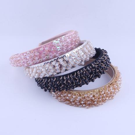 Lässiges Haarband der einfachen Mode-einfachen Kristallreisperlen NHWJ319837's discount tags