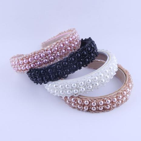 Neues zweireihiges Perlenkristall-Stirnband NHWJ319839's discount tags