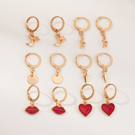 fashion lips love earrings set NHNZ319889's discount tags