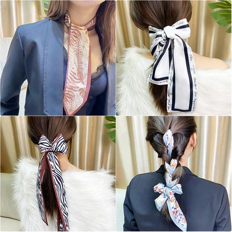 Bufanda con estampado de seda de imitación de nueva moda de Corea NHNA319900's discount tags