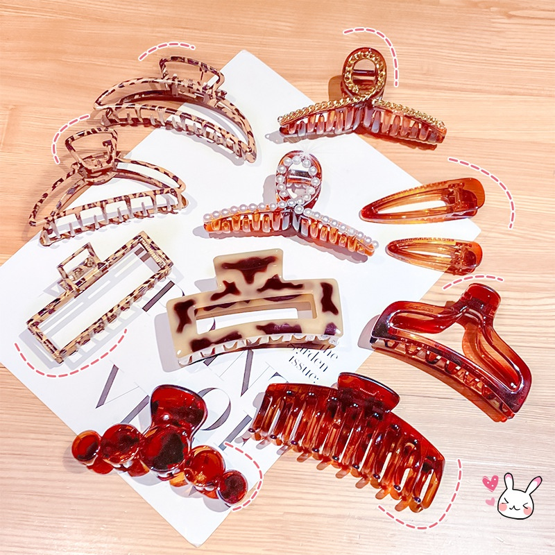 Korea Leopard Print Metal Grab Clip  NHNA319904